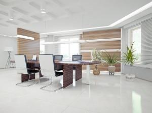 Abbildung: helles, ergonomisches Büro