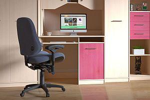Abbildung: Bürostuhl am individuellen Heimarbeitsplatz