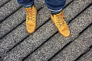 Grafik: stabile Schuhe bei langem Stehen