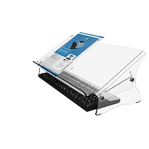 Produktbild:  Dataflex 49.410 Addit ErgoDoc Dokumentenhalter, Höhenverstellbar von 160-235 mm in 6 Schritten, transparent