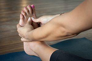 Grafik: Füße werden massiert