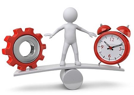 Grafik: Balance zwischen Arbeit und Erhulng