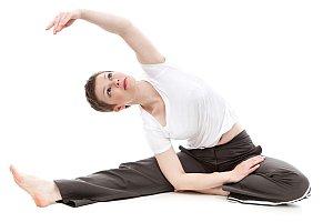 Abbildung: Gymnastische Übungen für einen flexiblen und gesunden Rücken