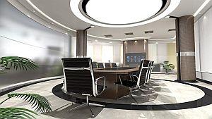 Abbildung: Bürostühle im professionellen Kontext