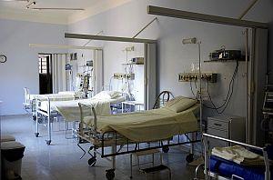 Abbildung; Krankenhauszimmer für pflegebedürftige Mneschen