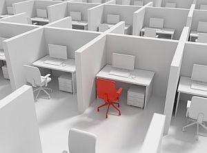 Abbildung: Abgegrenzte Bürozelle