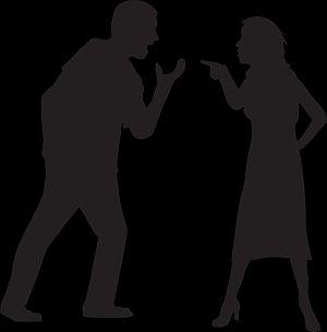Abbildung: Streit am Arbeitsplatz