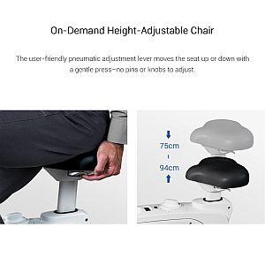 Grafik: leichte Modifikation der Sitzhöhe