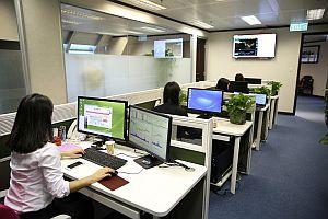 Abbildung: Arbeiten im Großraumbüro