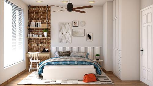 Bild: Ein freundliches Schlafzimmer