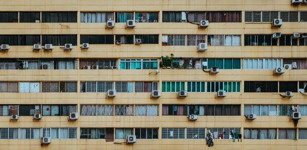 Klimatisierter Wohnblock