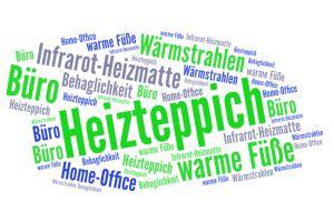 Artikelgrafik: Heizteppich und Infrarot-Heizteppich